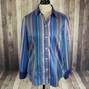 Robert Graham striped women's button down shirt